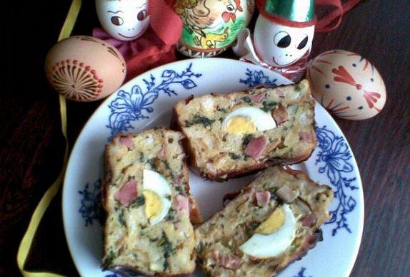 Kopřivová velikonoční nádivka s vejci photo-0
