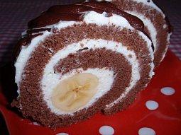 Banánovo-čokoládová roláda