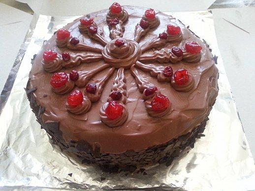 Čokoládový dort s kandovaným ovocem