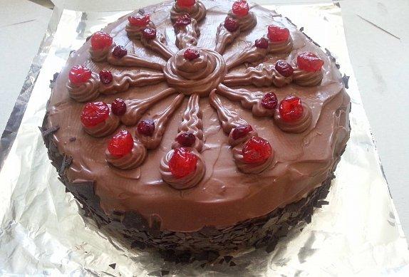 Čokoládový dort s kandovaným ovocem photo-0