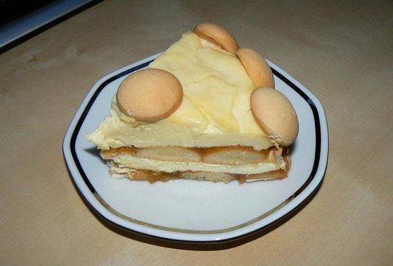 Lehký tvarohovo - pudingový dortík