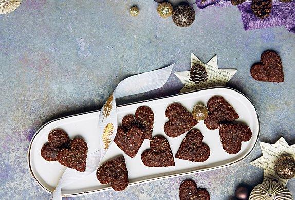 Mandlovo-kakaová srdíčka