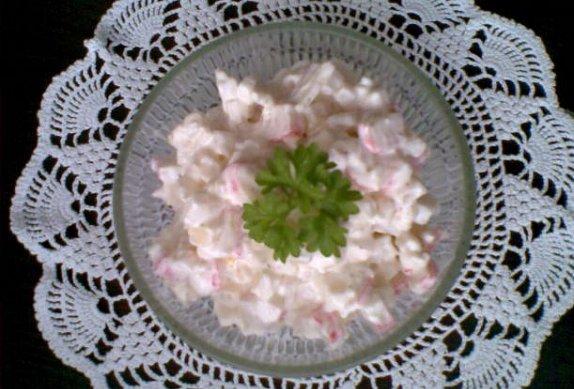 Krabí salát s nakládaným celerem photo-0