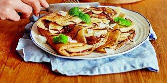 Pohankové palačinky s nutellou a banány