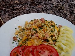 Rychlá vaječná rýže