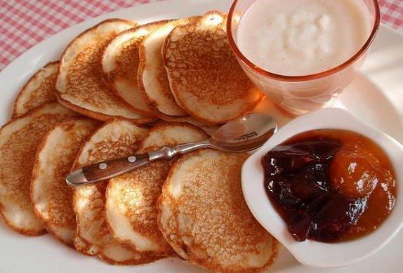 Jemné lívance z acidofilního mléka - bez vajec
