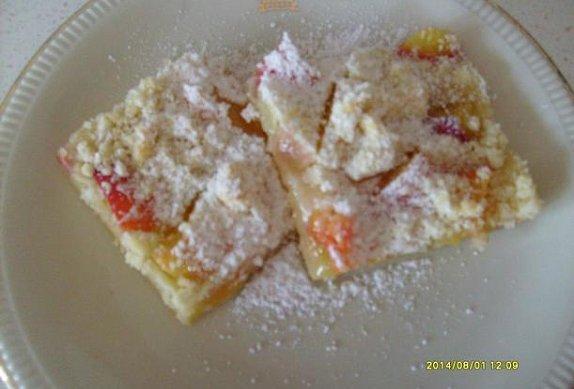 Švestkový koláč s drobenkou bez kynutí