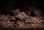 Pěna s polevou z hořké čokolády