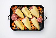 Plněné papriky s knedlíkem