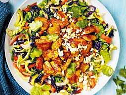 Restovaná zelenina s kuřecím masem