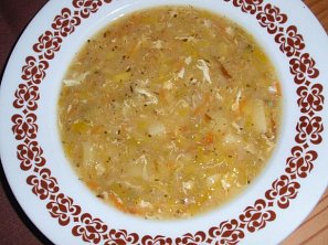 Bramborovo-pórková polévka