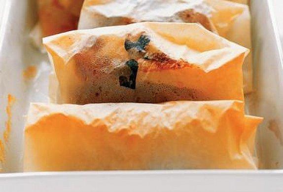 Pečený lilek v balíčku