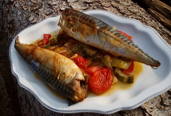 Makrela na zelenině