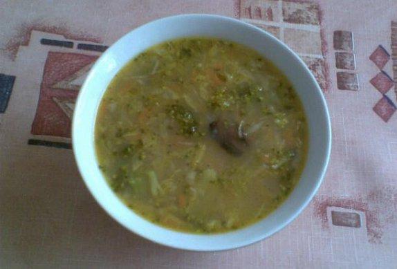 Brokolicovo-houbová polévka