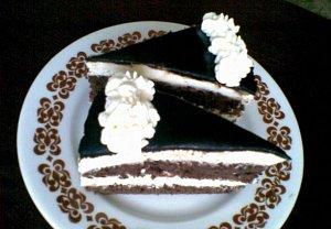 Kakaovo-tvarohový dort