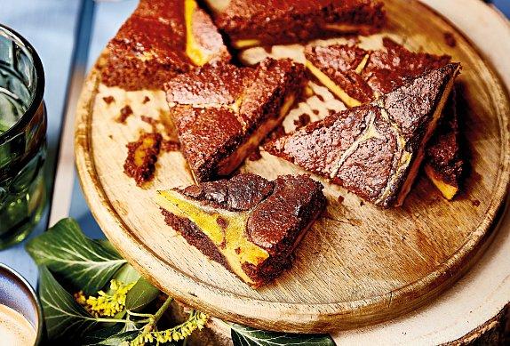 Brownies s dýňovým krémem