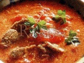 Rajská polévka s masem