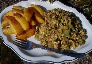 Brokolice (květák) se sýrem a slaninou ala mozeček