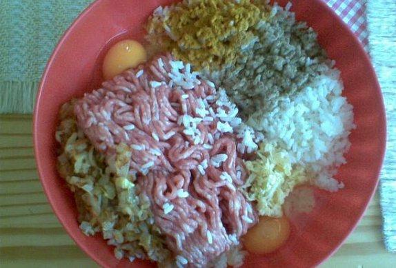 Rýžovo-masové placičky