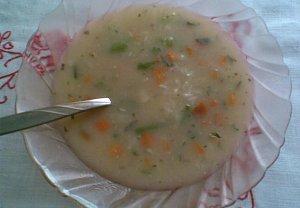 Rýžová polévka zapražená-se zeleninou