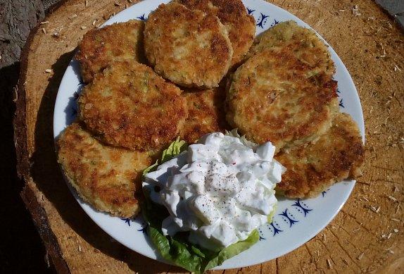 Bramborovo-cuketové placičky s balkánským sýrem