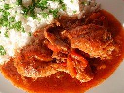 Dušené kuře se zeleninou (tajine / tažín)