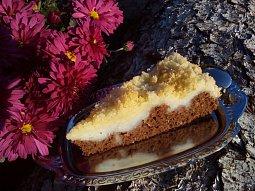 Kokosový koláč s pudinkem a drobenkou
