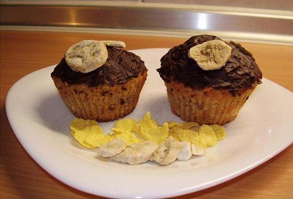 Banánové muffiny s cornflakes