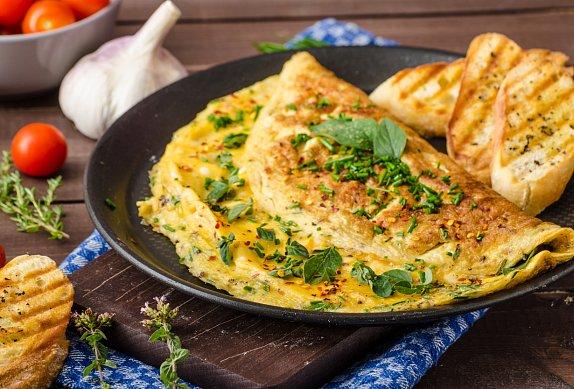 Rychlá chlebová omeleta