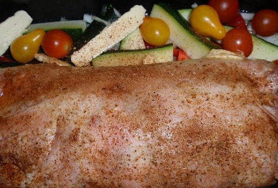 Kuřecí roláda se zeleninou