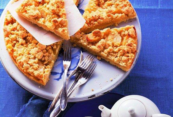 Křehký koláč s tvarohovo-jablečnou náplní