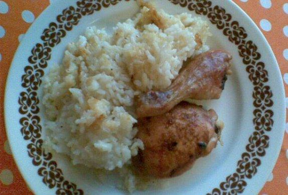 Dietní pečené kuře s rýží