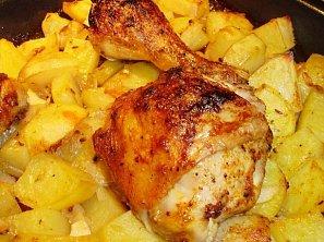 Rychlé kuře s bramborem