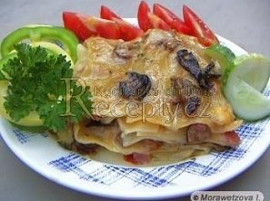 Houbové lasagne