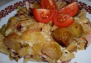 Brambory nebo těstoviny zapečené (nejen) s růžičkovou kapustou