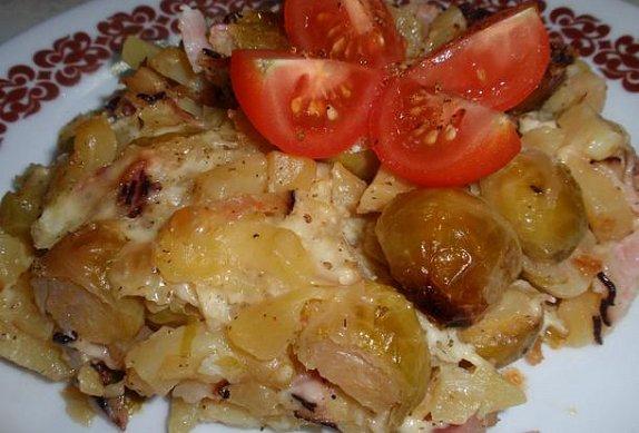 Brambory nebo těstoviny zapečené (nejen) s růžičkovou kapustou photo-0