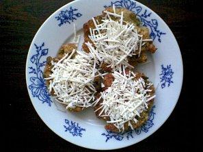 Chlebové placky s hráškem