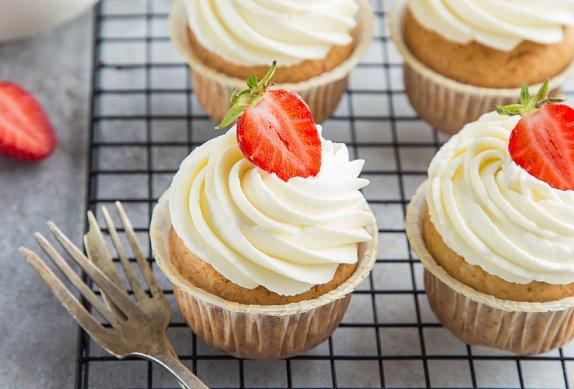 Vanilkové cupcakes