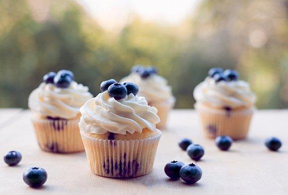 Borůvkové cupcakes s citrony