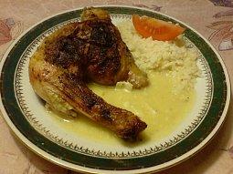 Kuře s hermelínovou omáčkou