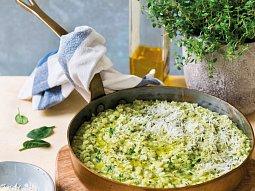Risotto se špenátem a bylinkami