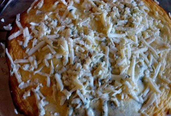 Brokolice (květák) se sýrovou smetanou - zapečená