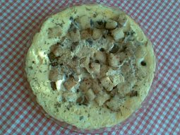 Houbovo-knedlíková omeleta