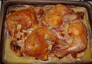 Babiččino kuře na šunce