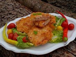 Hermelínovo-kuřecí řízečky