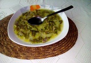 Fazolkovo-žampiónová polévka