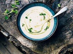 Krémová fazolová polévka