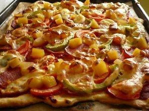Nekynuté těsto na pizzu