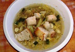 Cibulovo-česneková polévka