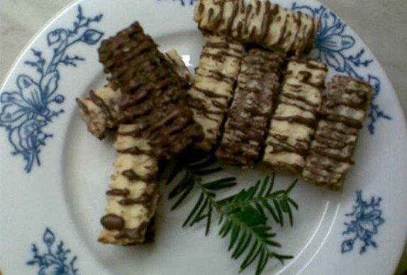 Barevné kokosové tyčinky s kakaovým krémem photo-0